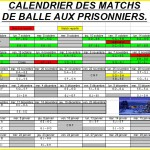 calendriers matchs 2013 2014 Ballons prisonniers