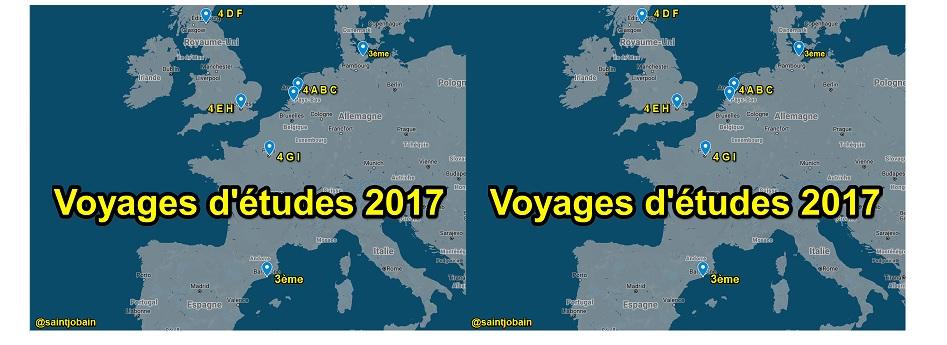 voyages d'études 2017 Bain-de-Bretagne