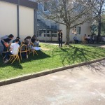 Avec les beaux jours les arts sortent de la classe (2)