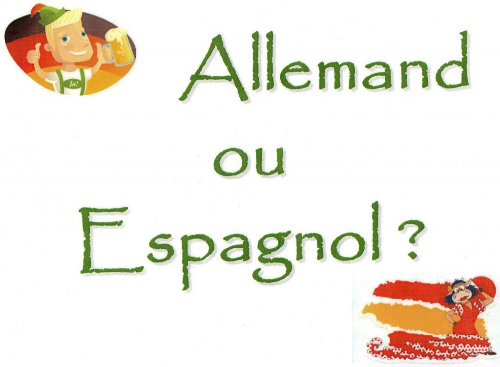Allemand ou espagnol (1)
