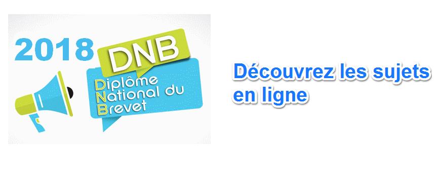 sujet DNB