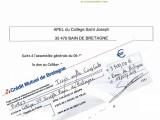 apel collège Saint Joseph Bain-de-Bretagne