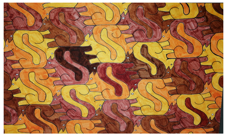 Pavage à la manière d' Escher